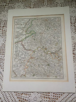 RARE-Antique Map Shropshire / Hereford by J. Cary- Hand Coloured