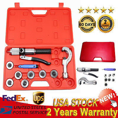Hydraulic 7 Lever Tubing Expander Tool Swaging Kit HVAC Tools Tube Piping Pipe