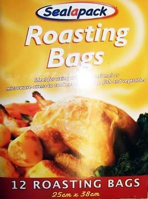Microwave & Conventional Roasting Bags Cooking Chicken Fish Poultry Pack Of 12