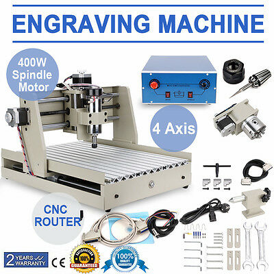 4 AXIS 3040T CNC  ENGRAVER ROUTER Wood metal cutter drilling milling MACHINE new