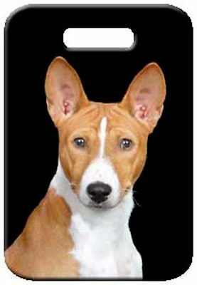 Set of 2 Basenji Luggage Tags