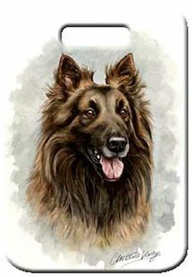 Set of 2 Belgian Tervuren Luggage Tags