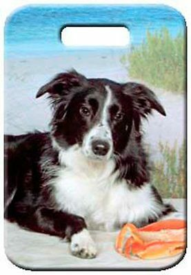 Set of 2 Border Collie Luggage Tags