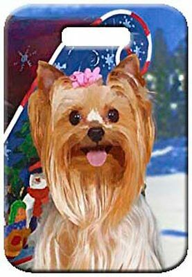 Set of 2 Yorkshire Terrier Luggage Tags