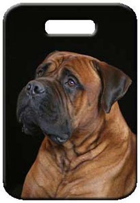 Set of 2 Bullmastiff Luggage Tags