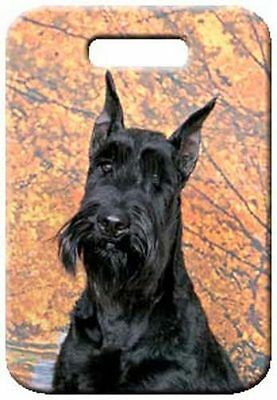 Set of 2 Giant Schnauzer Luggage Tags