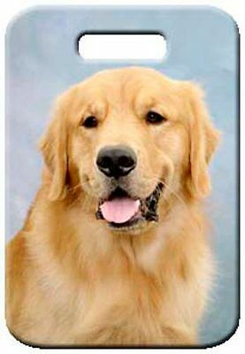 Set of 2 Golden Retriever Luggage Tags