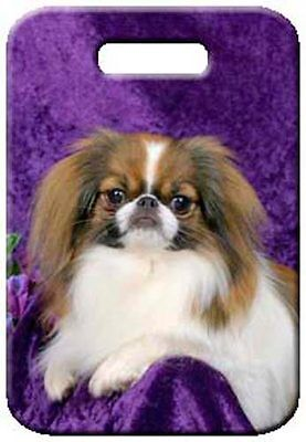 Set of 2 Japanese Chin Luggage Tags