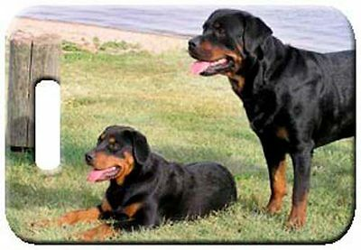 Set of 2 Rottweiler Luggage Tags