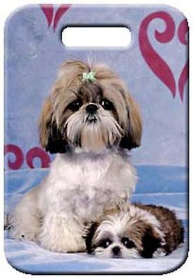 Set of 2 Shih Tzu Luggage Tags