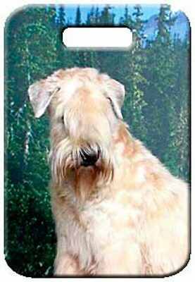 Set of 2 Soft Coated Wheaten Luggage Tags