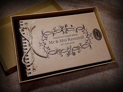 Personalised Vintage Wedding/Engagement/Guest Book/Scrapbook/Photo Album A4/A5