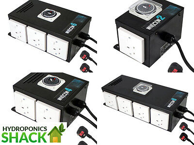 Widow Contactor Timer 2, 4, 6 & 8 Way Hydroponics Lighting Control Grow Tent