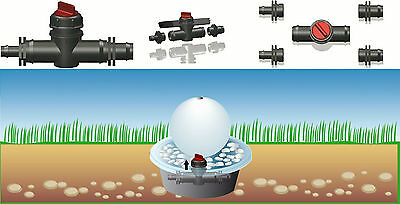 """seliger Shut-off valve for Outdoor recessed basin Connection 1/2""""3/4""""1"""""""