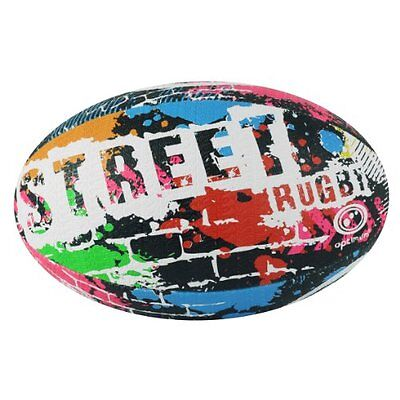 Optimum Street Rugby Ball - Black, Size 4