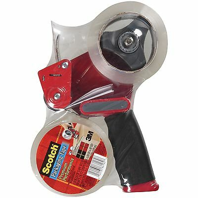 New Scotch Packaging Tape and Dispenser Gun with 2 rolls Packing Sealing Tape