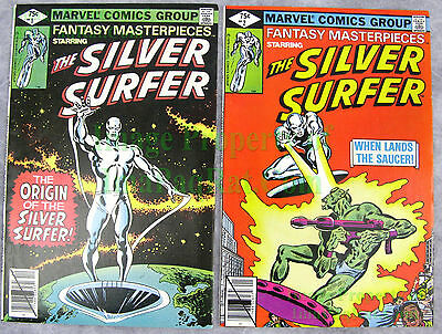 Fantasy Masterpieces #1 & #2 KEY Detailed Silver Surfer ORIGIN ISSUE Excellent