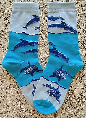 New Wild Habitat Ladies Socks  Dolphin Porpoise  Jimmy Buffett Parrothead B/a