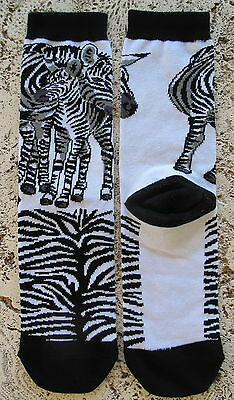 New Wild Habitat Ladies Socks  Zebra And Foal Collectible Finest Quality!!!
