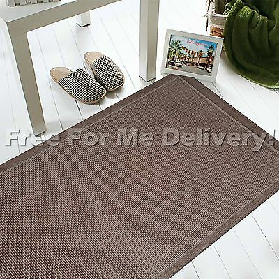 INDOOR/OUTDOOR BROWN PLAIN NON-SLIP RUG RUNNER 66x230cm **FREE DELIVERY**