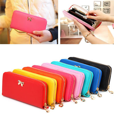 Fashion Lady Women Leather Zip Clutch Wallet Long Card Holder Case Purse Handbag