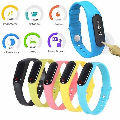 Smart Watch Wrist Band Bracelet Sports Pedometer Step Counter Activity Tracker