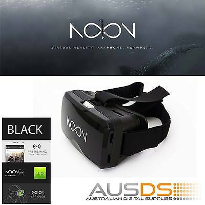 NOON VR BLACK Virtual Reality Headset ANDROID IOS VR Gaming Iphone Samsung