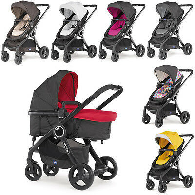 Chicco Urban PLUS Convertible Stroller BLACK Chassis inkl Color Kit - BRAND NEW