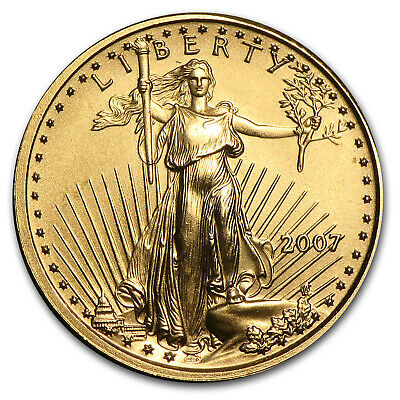 2007 1/10 oz Gold American Eagle BU - SKU #21526