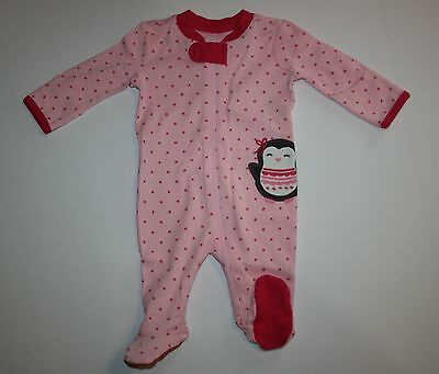 New Gymboree Cheerful Penguin Pink Sleep n Play Outfit NWT Newborn 0-3m 3-6m