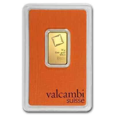 10 gram Valcambi Gold Bar - Assay Card - SKU #77423