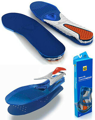 SPENCO GEL COMFORT Insoles Orthoric Arch Cushions Casual Shoe Inserts 39-818 TPR