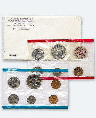 1971 United States US Mint Uncirculated Coin Set SKU1378
