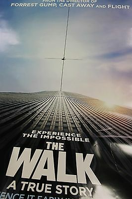 The Walk IMAX Authentic Original Bus Shelter DS Double Sided Movie Poster