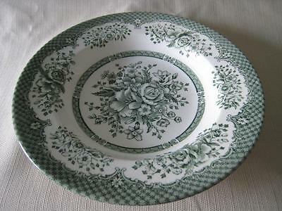Wood & Sons KEW GREEN Rimmed Soup Bowl England Discontinued