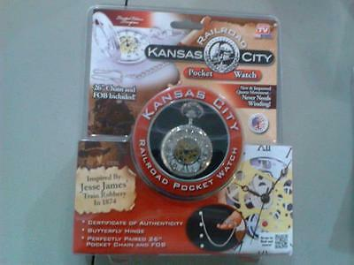 Kansas City Railroad Pocket Watch Inspired by Jesse James SEALED PACKAGE