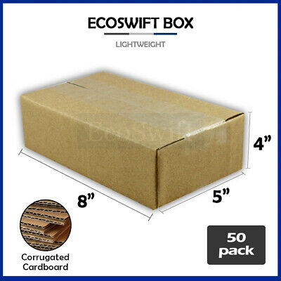 50 8x5x4 Cardboard Packing Mailing Moving Shipping Boxes Corrugated Box Cartons