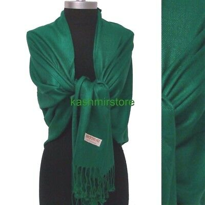 NEW Women Solid 100%Pashmina Wrap Cashmere Wool Shawl/Scarf Soft olive green