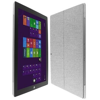 Skinomi Brushed Aluminum Skin+Clear Screen Protector for Microsoft Surface Pro 3
