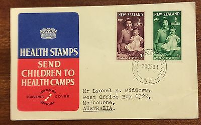 New Zealand health stamps souvenir cover