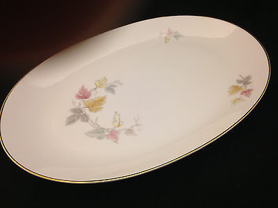 Favorit Red Maple by Hutschenreuther - Large Oval Platter - Bavarian China