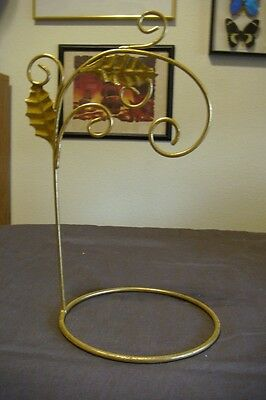 "11"" Gold Metal Leaf Ornament Stand"