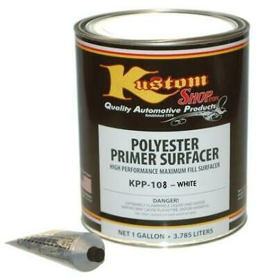 Gal. White POLYESTER PRIMER FILLER SURFACER-Auto Surface Paint