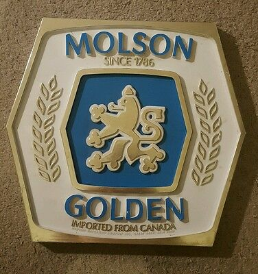 molson golden imported from canada beer sign
