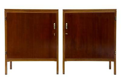 PAIR OF DAVID ROSEN 1950's MAHOGANY CABINETS FOR NORDISKA KOMPANIET