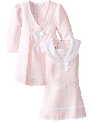 79ab6698a57c2 Bonnie Jean Baby Girls Pink Easter Holiday Bow Coat Dress Set 12 18 24  Months
