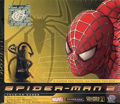 Spiderman 2 Movie Wax Box Cards Card 24 Packs Upper Deck 2004