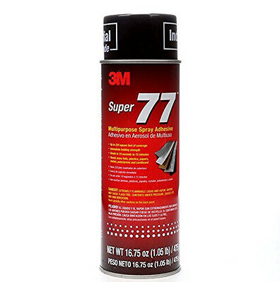 3M Super 77 Multipurpose High Tack Fast Dry Spray Adhesive 16 fl oz Can 21210