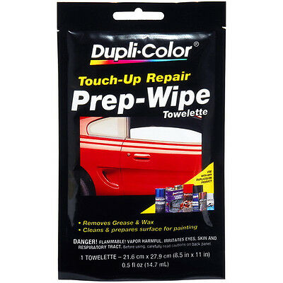Dupli-Color Touch-Up Repair PREP-WIPE Towelette Grease & Wax Remover 1pc 8.5x11""