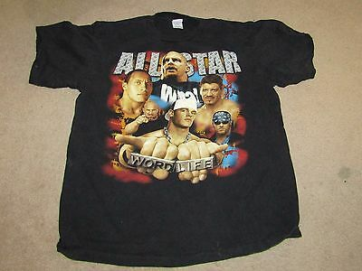 WWF WWE T-shirt Cena, Goldberg, Undertaker, Eddie Guerrero, The Rock GREAT condi